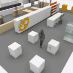 3d model of the Benaki Museum Shop / Art Athina 2009