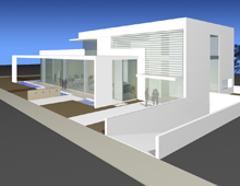 Proposal for the Aston Martin Showroom, Kifisias Av., Athens
