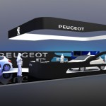 3d visual for Peugeot Stand