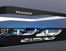 Stand Peugeot in the Autokinisi CWM FX 2014 exhibition